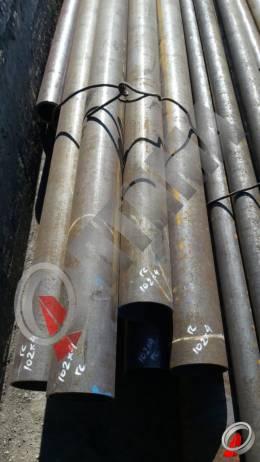 Труба стальная 102х4 фото со склада ООО «Оптима»