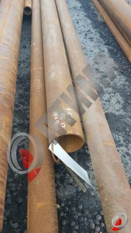 Труба стальная 108х6 фото со склада ООО «Оптима»