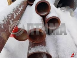 Труба стальная 114х11 фото со склада ООО «Оптима»