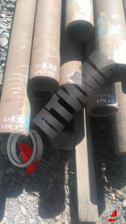 Труба стальная 114х14 фото со склада ООО «Оптима»