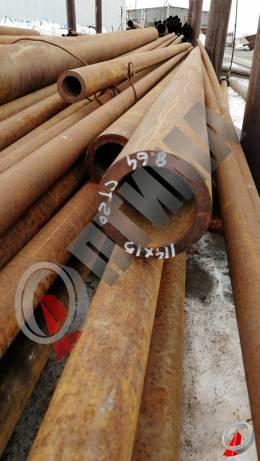 Труба стальная 114х15 фото со склада ООО «Оптима»