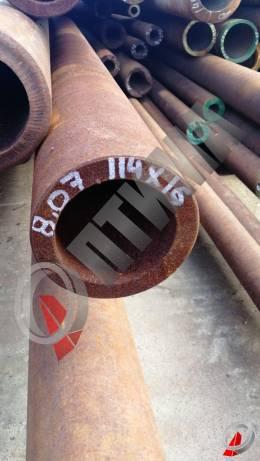 Труба стальная 114х16 фото со склада ООО «Оптима»