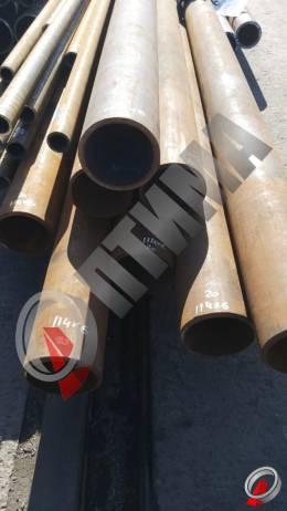 Труба стальная 114х6 фото со склада ООО «Оптима»