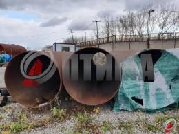Труба стальная 1420х18.7 фото со склада ООО «Оптима»