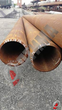 Труба стальная 159х10 фото со склада ООО «Оптима»