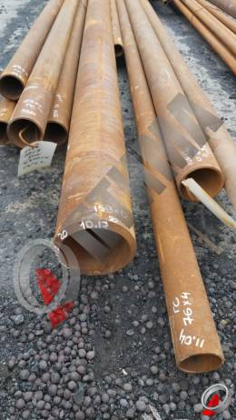 Труба стальная 159х12 фото со склада ООО «Оптима»