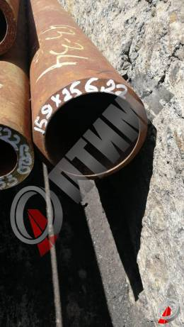 Труба стальная 159х25 фото со склада ООО «Оптима»