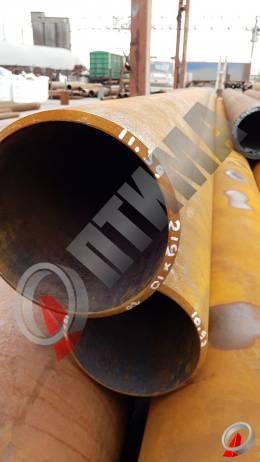 Труба стальная 219х10 фото со склада ООО «Оптима»