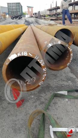 Труба стальная 219х18 фото со склада ООО «Оптима»