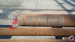 Труба стальная 219х8 фото со склада ООО «Оптима»