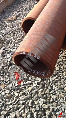 Труба стальная 273х16 фото со склада ООО «Оптима»