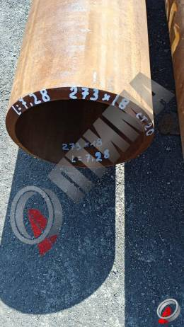 Труба стальная 273х18 фото со склада ООО «Оптима»