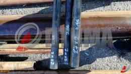 Труба стальная 27х2 фото со склада ООО «Оптима»