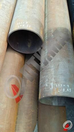 Труба стальная 377х9 фото со склада ООО «Оптима»