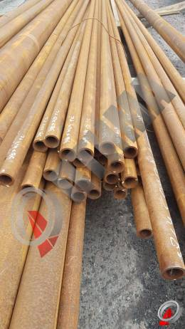 Труба стальная 38х4.5 фото со склада ООО «Оптима»