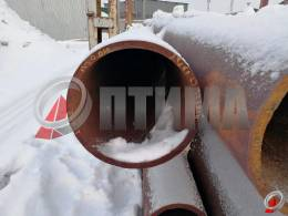 Труба стальная 426х22 фото со склада ООО «Оптима»