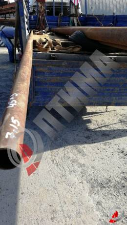 Труба стальная 45х3 фото со склада ООО «Оптима»