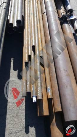 Труба стальная 45х6 фото со склада ООО «Оптима»