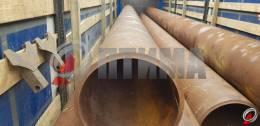 Труба стальная 508х24.4 фото со склада ООО «Оптима»