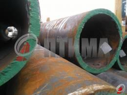 Труба стальная 550х40 фото со склада ООО «Оптима»