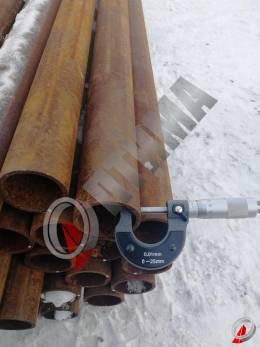 Труба стальная 57х4 фото со склада ООО «Оптима»