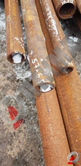 Труба стальная 57х5.5 фото со склада ООО «Оптима»