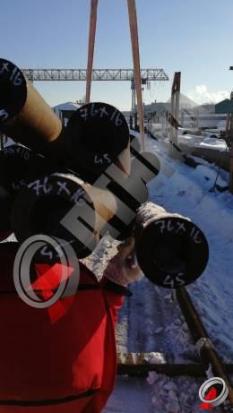Труба стальная 76х16 фото со склада ООО «Оптима»