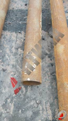 Труба стальная 76х4 фото со склада ООО «Оптима»