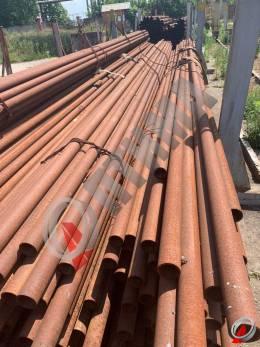 Труба стальная 76х6 фото со склада ООО «Оптима»
