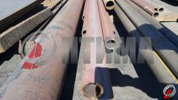 Труба стальная 89х10 фото со склада ООО «Оптима»
