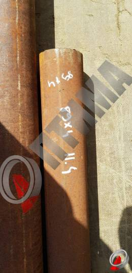Труба стальная 89х4 фото со склада ООО «Оптима»