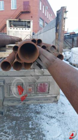 Труба стальная 89х6 фото со склада ООО «Оптима»
