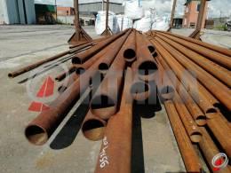 Труба стальная 95х4 фото со склада ООО «Оптима»